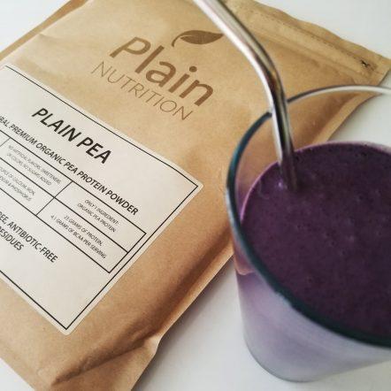 Plain Organic Pea Protein Shake