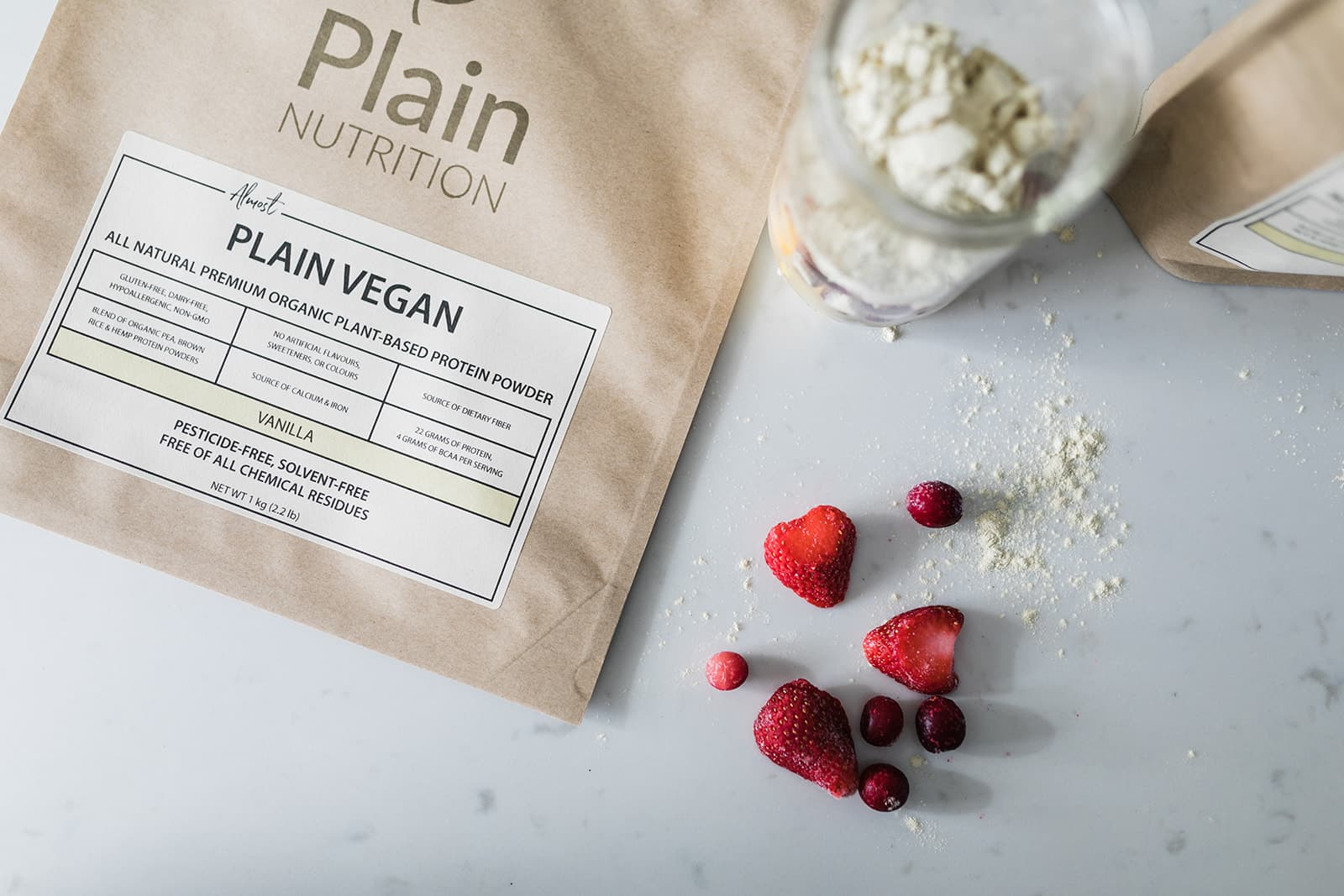 Why do vegans use protein powder?